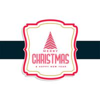 merry christmas label design background