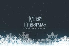 merry christmas winter snowflakes background