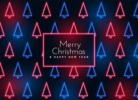 neon julgran mönster bakgrund
