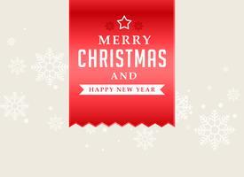 Buon Natale sfondo nastro rosso