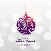 decorative christmas ball on bokeh background