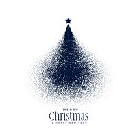 creative christmas tree made with particles