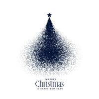kreativt julgran med partiklar