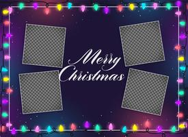 merry christmas lights decoration with image space