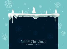 winter christmas snowflakes background with text space