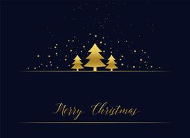 golden christmas tree premium greeting