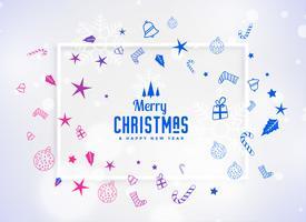 lindo fundo de elementos festival de decoração de Natal
