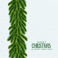 merry christmas tree green leaves background with text space