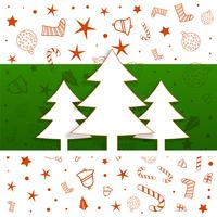 christmas tree design with decorative elements pattern