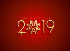 golden 2019 happy new year background