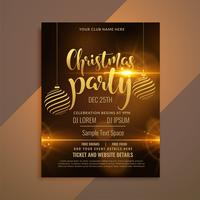 beautiful shiny christmas party flyer template