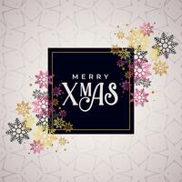 merry christmas color snowflakes background