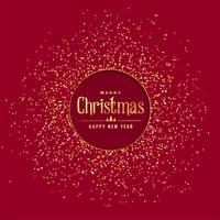 red christmas background with golden glitter