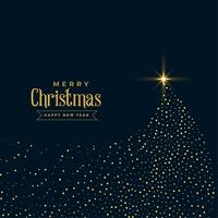 kreatives Weihnachten funkelt glänzendes Design des Baums