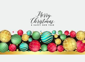 beautiful premium christmas balls decoration background