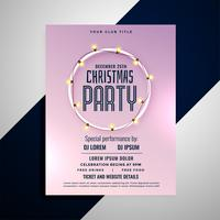 clean merry christmas party flyer design