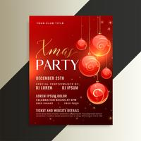 awesome christmas party poster flyer design