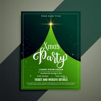 green christmas tree flyer template
