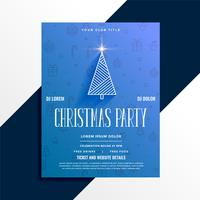 minimal christmas party celebration flyer design