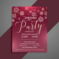 Frohe Weihnachten Party Feier Flyer Design
