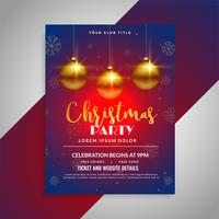 christmas party festival shiny flyer design template