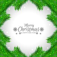 Stylish decorative Merry Christmas background vector