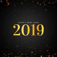 Abstract stylish  New Year 2019 greeting background
