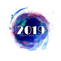 Abstracte Gelukkige Nieuwjaar 2019 kleurrijke achtergrond