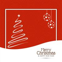 Merry Christmas background with tree design
