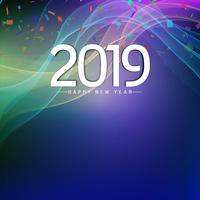 Abstract Nieuwjaar 2019 achtergrondontwerp