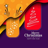 Abstract Merry Christmas festival celebration background