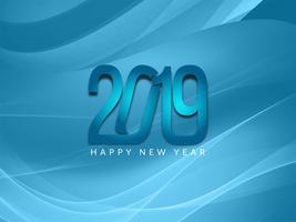 Gelukkige Nieuwjaar 2019 decoratieve achtergrond