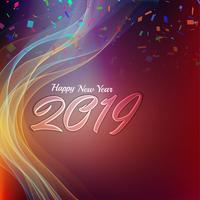 Happy New Year 2019 stylish greeting background