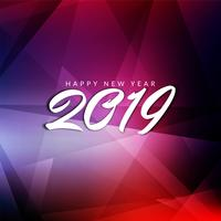 Abstracte gelukkig Nieuwjaar 2019 achtergrond