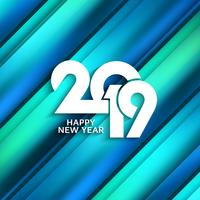 Abstract Happy New Year 2019 colorful background