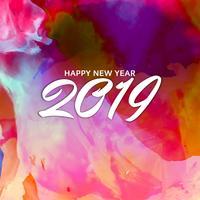 Gott nytt år 2019 hälsning bakgrund