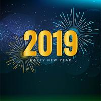 Abstract Happy New Year 2019 stylish background