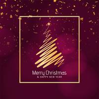 Fondo decorativo abstracto feliz Navidad vector