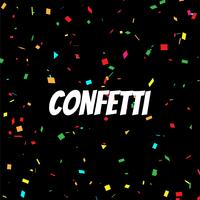 Abstract colorful confetti decorative background