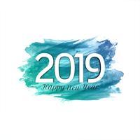 Fundo elegante moderno de ano novo 2019