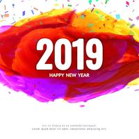 Abstract New Year 2019 background design