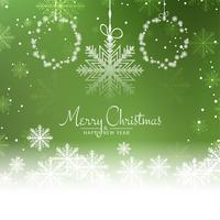 Abstract Merry Christmas beautiful green background