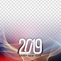Frohes neues Jahr 2019 Gruß Hintergrund vektor