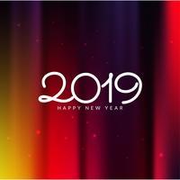Feliz año nuevo saludo 2019 fondo