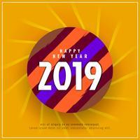 Fondo de celebración de año nuevo abstracto 2019