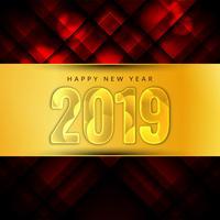 Feliz año nuevo 2019 fondo moderno