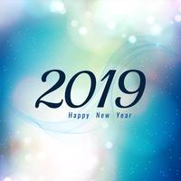 Fundo de celebração abstrata ano novo 2019 vetor