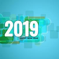Abstrait joyeux nouvel an 2019 salutation