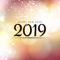 Guten Rutsch ins Neue Jahr 2019 moderner Hintergrund
