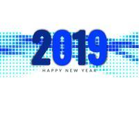 Fond décoratif élégant Nouvel An 2019